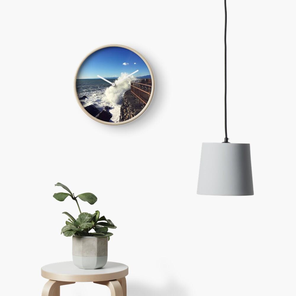 Foto onde mare Genoa - Photo waves sea Genoa Clock