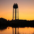 Water Tower At Sunset by Cynthia48