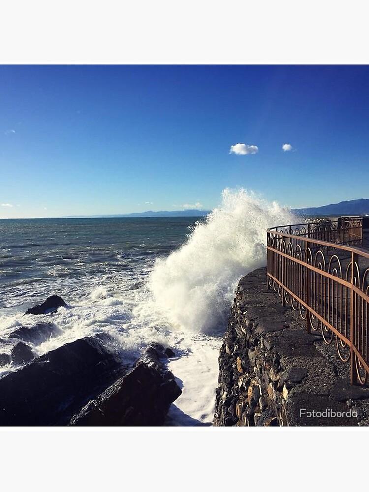 Foto onde mare Genoa - Photo waves sea Genoa by Fotodibordo