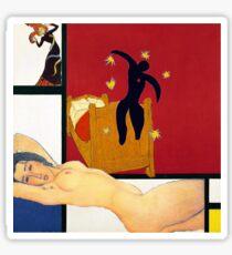 Mondrian, Toulouse-Lautrec, Modigliani, van Gogh, Matisse Sticker