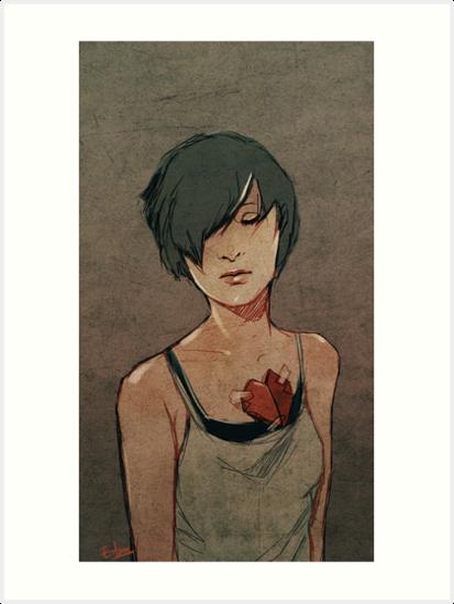 folding paper hearts  by Eevien Tan