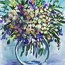 Impressionistic Flowers Bouquet  by Irina Sztukowski