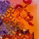 a piece of orange and purple  by TessAndre