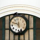 Vintage Station Clock with Birds by Anna Lemos