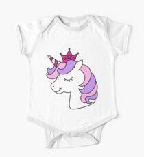 Cute Girly Unicorn Design One Piece - Short Sleeve