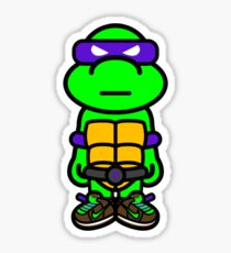 Purple Renaissance Turtle Sticker