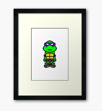 Purple Renaissance Turtle Framed Print