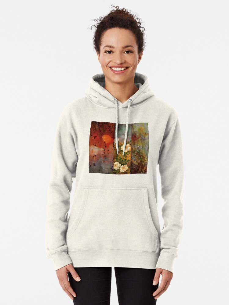 Alternate view of Whisper Forest Moon II Pullover Hoodie