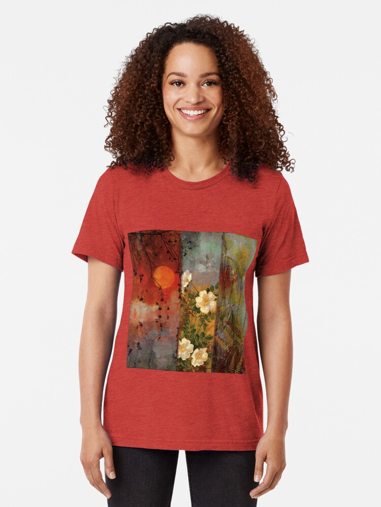 Alternate view of Whisper Forest Moon II Tri-blend T-Shirt