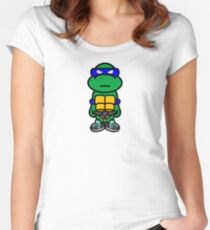 Blue Renaissance Turtle Women's Fitted Scoop T-Shirt