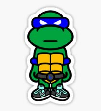 Blue Renaissance Turtle Sticker