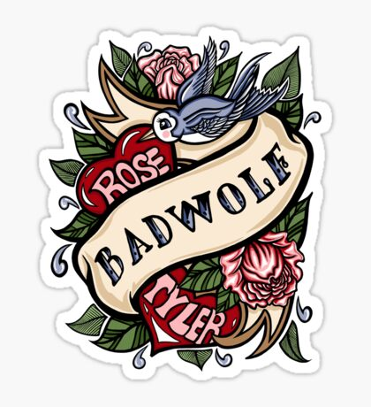 BadWolf Tattoo Sticker