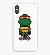 Orange Renaissance Turtle iPhone Case