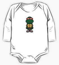 Orange Renaissance Turtle One Piece - Long Sleeve