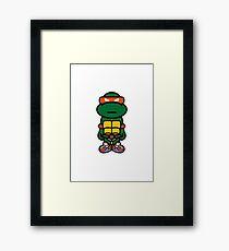 Orange Renaissance Turtle Framed Print