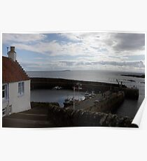 Crail harbour Poster