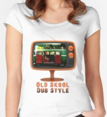 Old Skool Dub Style T-Shirt Women's Fitted Scoop T-Shirt