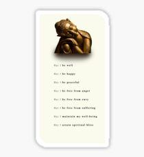Metta: Theravada Buddhism Loving Kindness Meditation 'May I be well' Sticker