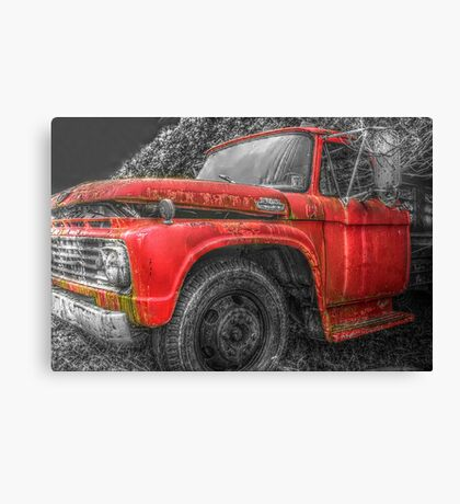 Old Farm Truck HDR SC Canvas Print