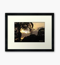 A Peaceful Evening Sky in Florida Framed Print