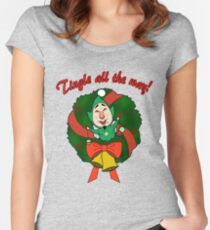 Tingle All the Way Women's Fitted Scoop T-Shirt