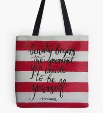 Beauty by Coco Chanel  Tote Bag