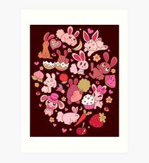Adorable Bunnies Art Print
