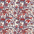 Indian floral pattern by purplesparrow