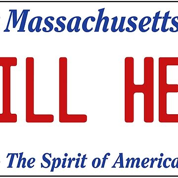 STILL HERE - Patriots License Plate by 1MNL1