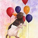 Rat Birthday Balloons by WolfySilver