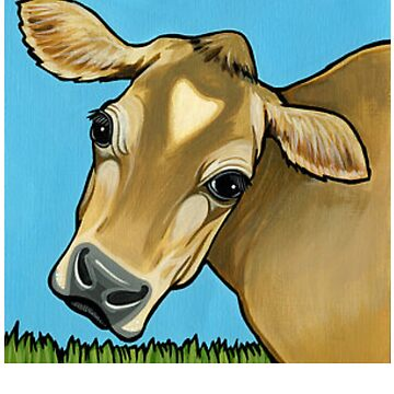 Jersey Cattle - Jersey Cow Painting - Jersey Cow Gift - Gift For Cow Lovers by Galvanized
