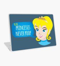 Real princesses never poop Laptop Skin
