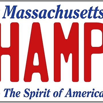 CHAMPS - Massachusetts License Plate by 1MNL1