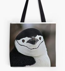 Chinstrap penguin in Antarctica,  Hollywood Headshot   18 Tote Bag