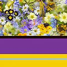 Floral Pattern And Bold Summer Colors by Printpix