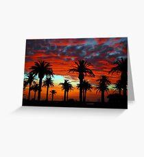 Sunset at St Kilda Beach  Greeting Card