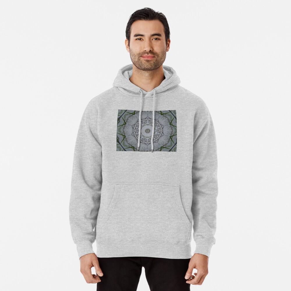 Light grey mandala Pullover Hoodie
