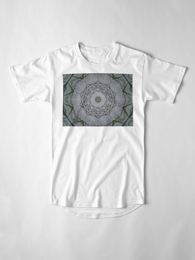 Alternate view of Light grey mandala Long T-Shirt