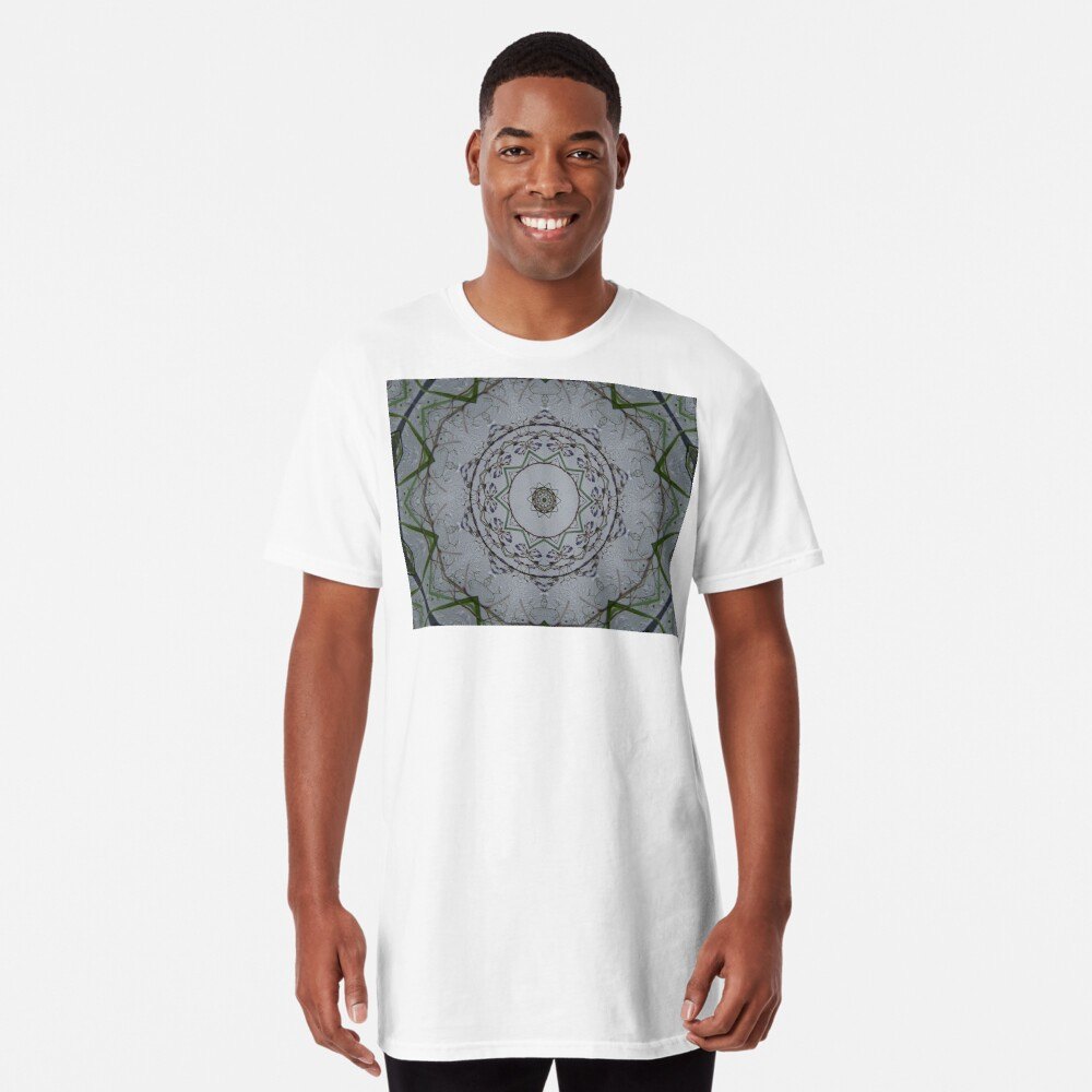 Light grey mandala Long T-Shirt