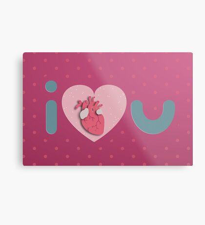 I Love You - I Anatomical Heart You Metal Print