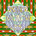 Green lion ecopop by jorgelebeau