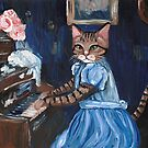 Kitty at the Piano by Ryan Conners