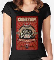 INGSOC 1984 Thoughtcrime Tailliertes Rundhals-Shirt