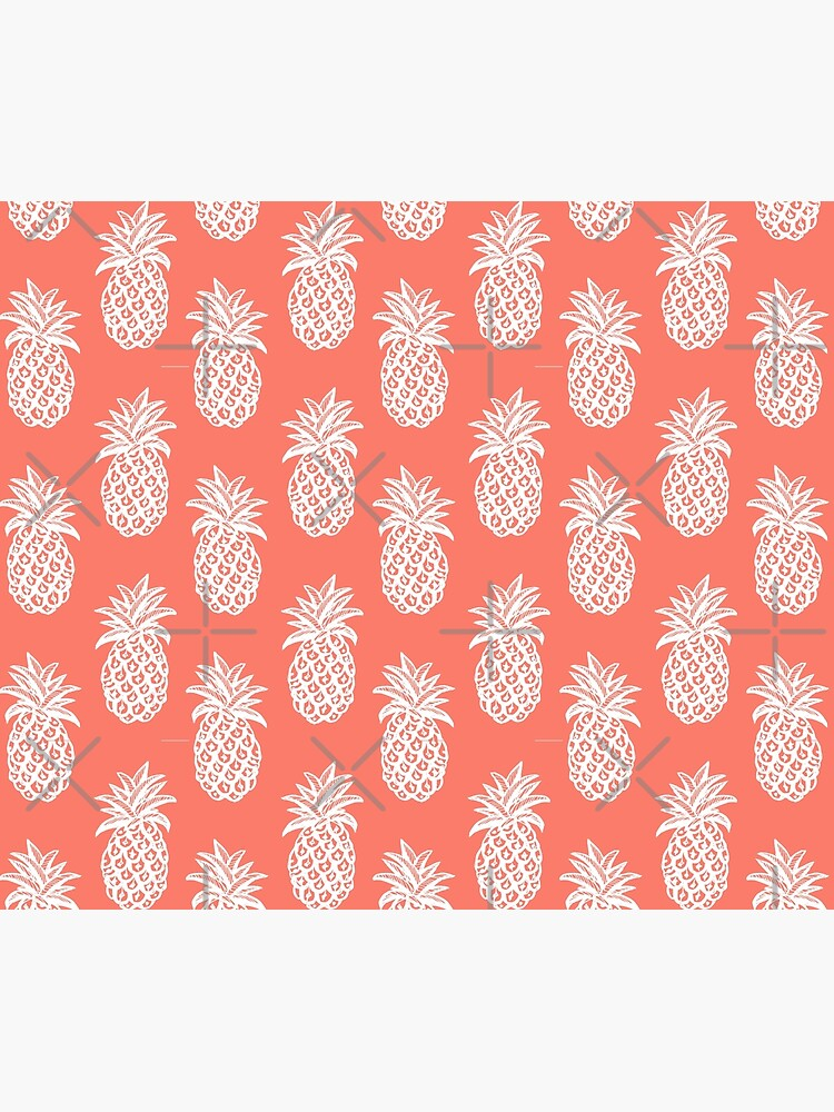 Living coral, Summer White Pineapple by MagentaRose
