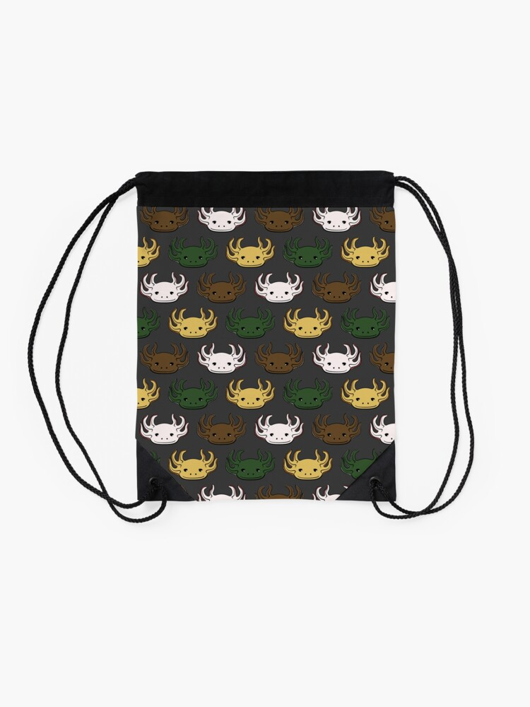 Alternate view of Axolotl Pattern Drawstring Bag