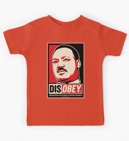 Martin Luther King Civil Disobedience Shirts Kids Clothes