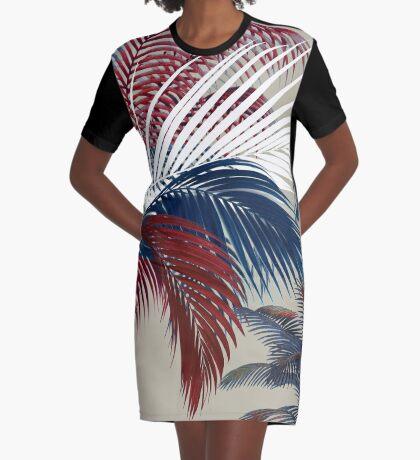American Palm  Graphic T-Shirt Dress