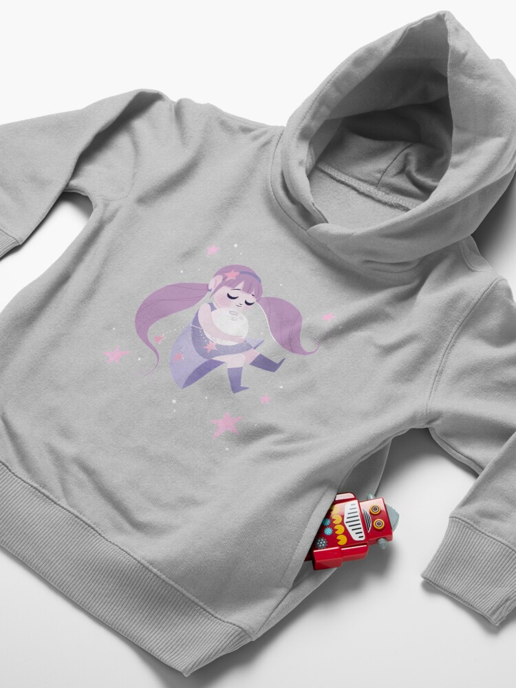 Alternate view of Moon girl Toddler Pullover Hoodie