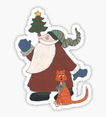 Juggling Santa Sticker