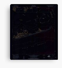 USGS TOPO Map Louisiana LA Eastern Isles Dernieres 331898 1953 24000 Inverted Canvas Print